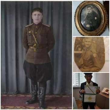 Este mosaico une a foto de um veterano soviético e outras três de veteranos do Brasil, também conhecidos como pracinhas, integrantes da FEB. Crédito: Arquivo Pessoal via Organização dos Jovens Compatriotas Russos no Brasil.