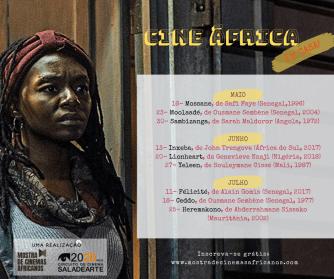 Cine África Em Casa. Crédito: arte web programação.