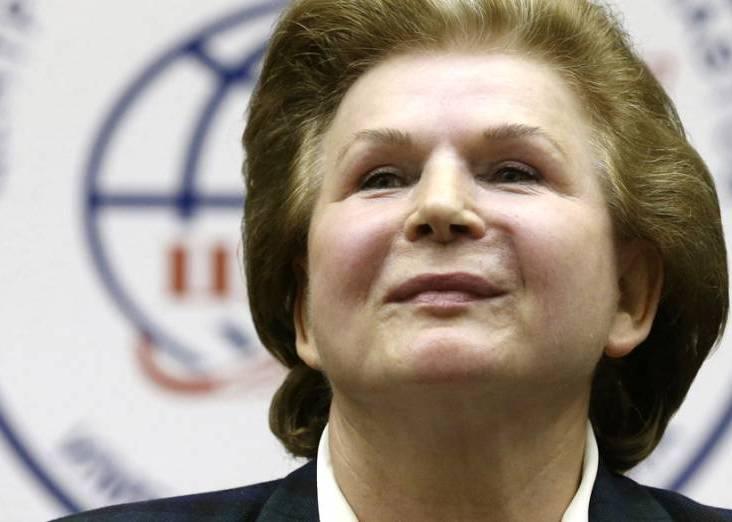 A deputada do Duma Federal pelo Oblast de Iaroslavl, Valentina Vladimirovna Tereshkova, foi primeira mulher a ir ao espaço. Crédito: Sergei Chirikov/EFE/VEJA/VEJA.
