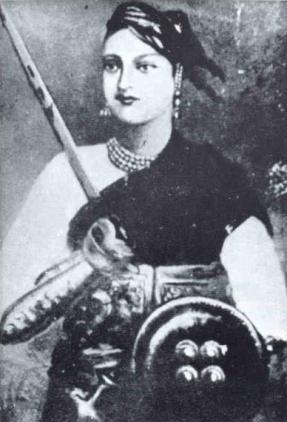 Rani Lakshmibai. Crédito: Wikipedia.