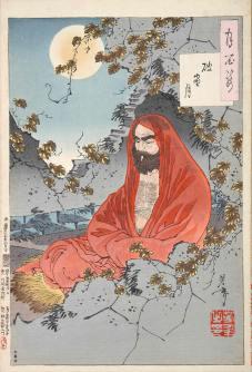 Bodhidharma, fundador da seita Zen do Budismo. Crédito: Wikipedia.