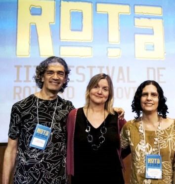 Evandro Melo, Carla Perozzo e Gabriela Liuzzi Dalmasso, diretores do ROTA. Crédito: divulgação.