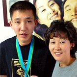 Bae Hyeong Jin e sua mãe Park Mi Gyeong. Crédito: https://www.hancinema.net/