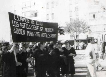 Puerto Real (Cádiz) contra la reconversión naval, año 1987.