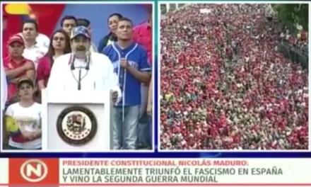 No Pasarán. Maduro compara la situación Venezolana con la España del 36