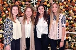 Camila Álvarez, Inés Levrero, Camila Abreu y Vanina Friedmann.