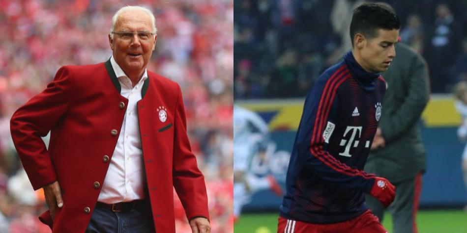 Beckenbauer, ídolo del Bayern, elogió a James Rodríguez