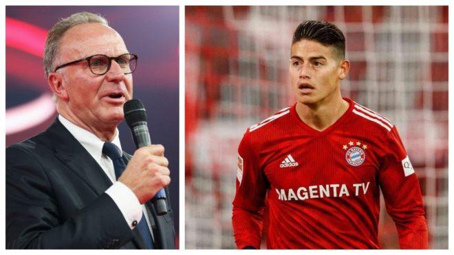 Karl-Heinz Rummenigge: «Estoy convencido de que James va a jugar para el Bayern la próxima temporada»
