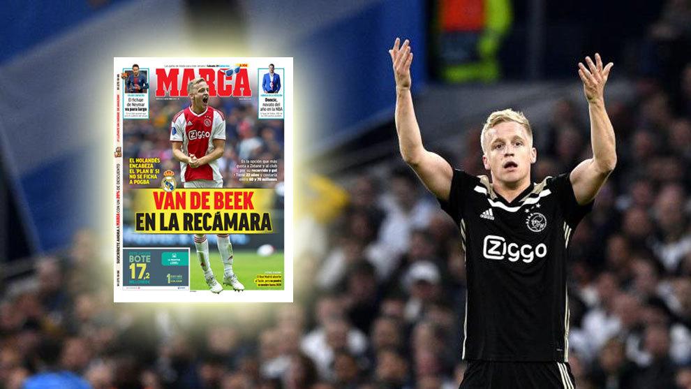 El Real Madrid reactiva el interés por Van de Beek, principal alternativa a Pogba