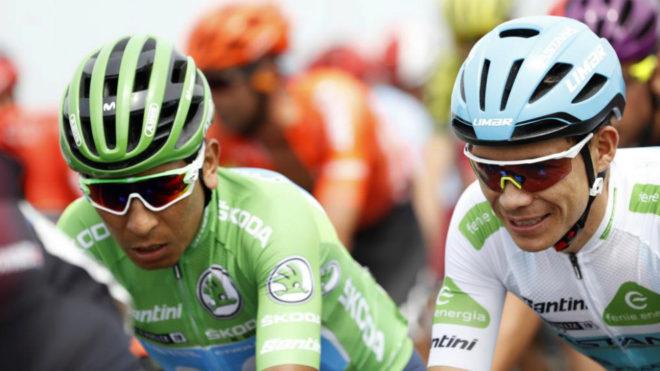 Nairo Quintana y Miguel Ángel López se quedan sin podio en La Vuelta
