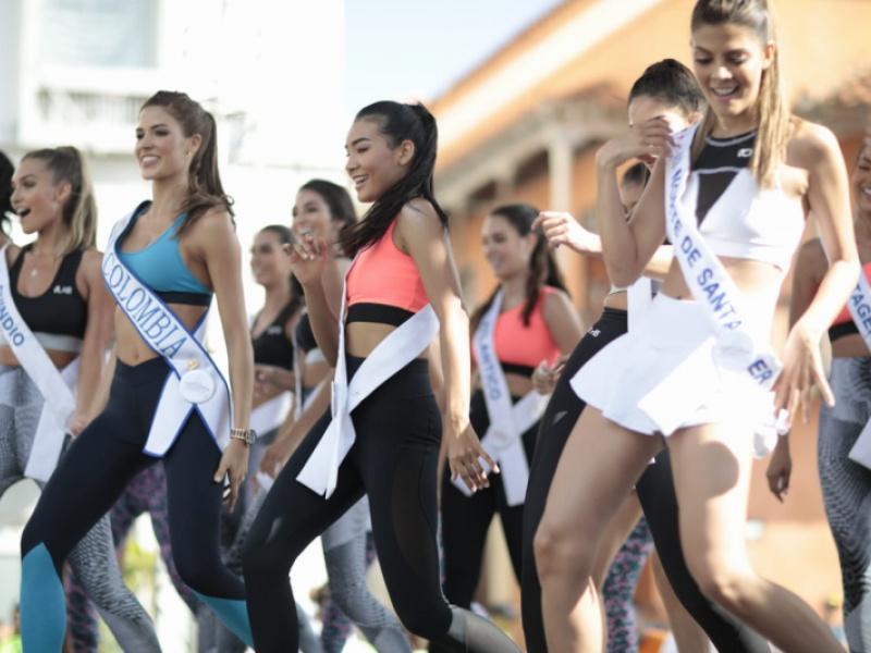"""La participación de las reinas en la """"Carrera del Caribe"""" 10k"""
