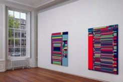 Rafaël Rozendaal, Complex Computational Compositions (Vista de la exposición) © Cortesia de la Upstream Gallery