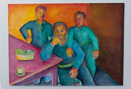 José Nava, Autorretrato con hijos