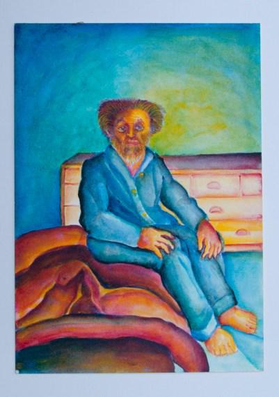 José Nava, Autorretrato sentado en la cama