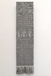 Jorge Satorre, Lo Otro, 2014. Chal. 195 x 43,5 cm. Realizado por José Jimenez. Cortesía del artista y Labor, Ciudad de México.