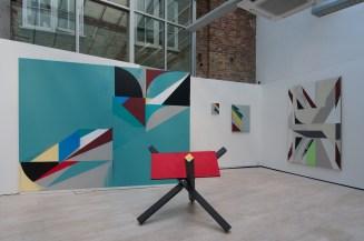 Jaime Gili, Guarimba (2017). Vista de la instalación. Imagen por cortesía de Cecilia Brunson Projects.