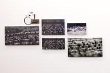 "False Flag, 2017. Impresión fotográfica montada en metacrilato, lupas, cuños tipográfico. Major : 33.46 x 22.44"" (85 x 57 cm) Emnor: 7.87 x 11.87"" (20 x 30 cm) Cada impresión es única."