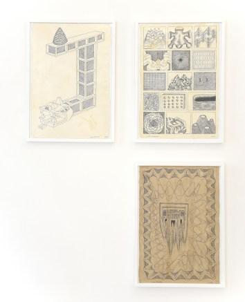 Cisco Jiménez, Sin título (dibujos). Tinta negra sobre papel, 2018