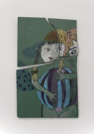 Diana Aisenberg, Fragmentos escogidos. Pintura sobre loza de linoleo, 2006.