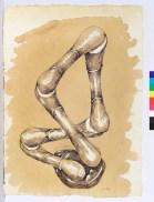 Agustín Cárdenas, Sans titre [signé 1976] Gouache et encre sur papier 67×48 cm