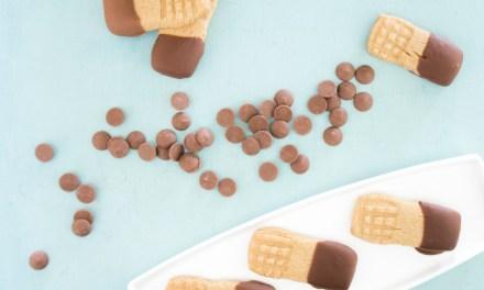 Lenguas de peanut butter y chocolate