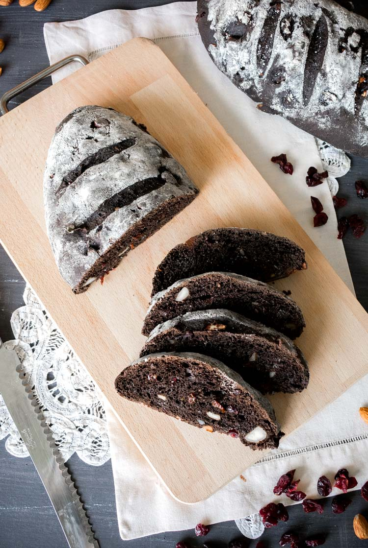 Receta de pan de chocolate, nueces y pasas en revista Maria Orsini