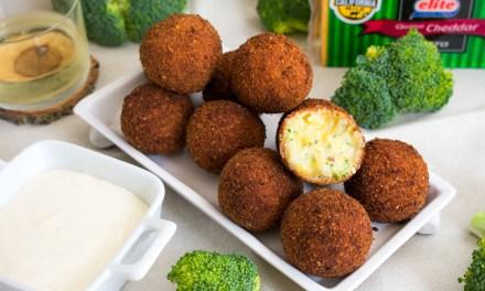 Croquetas de queso cheddar con brócoli