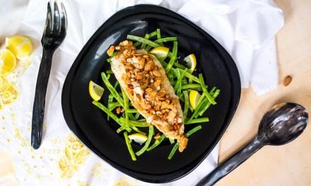 Pescado Amandine – pescado en salsa de almendra, limón y mantequilla