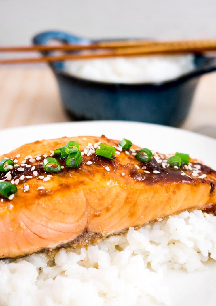 Receta de salmon teriyaki