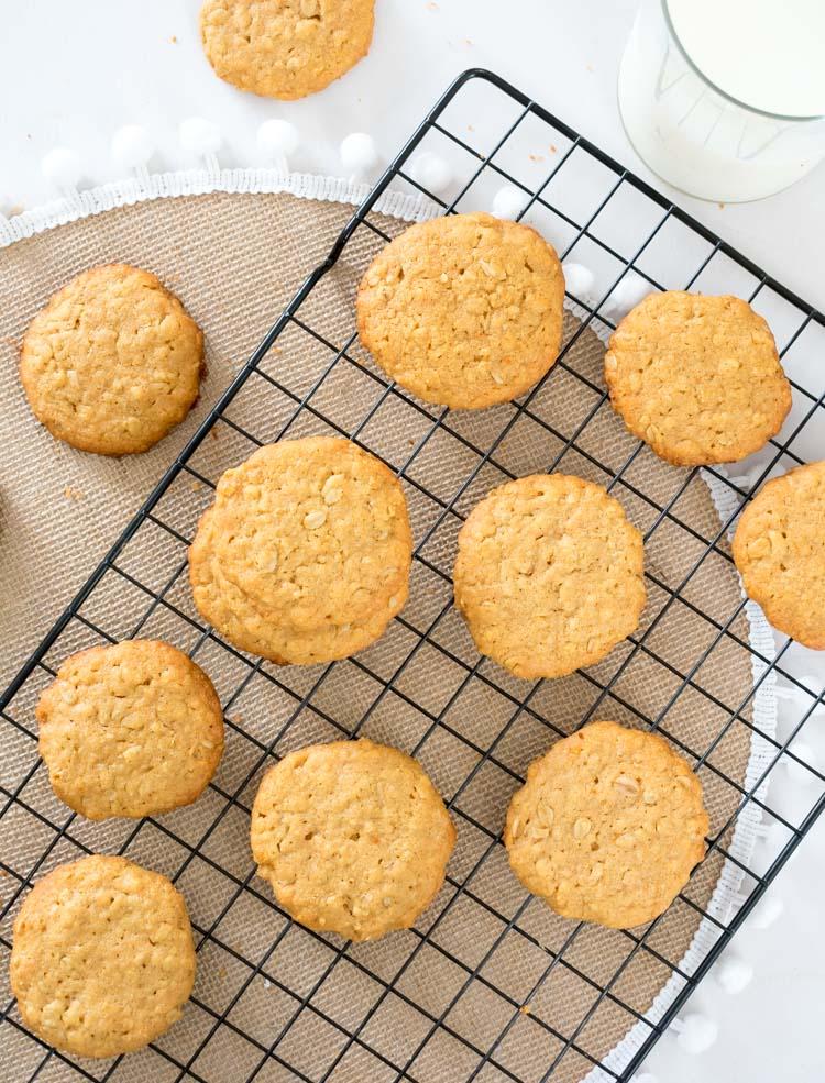 Receta de galletas de avena y crema de cacahuate