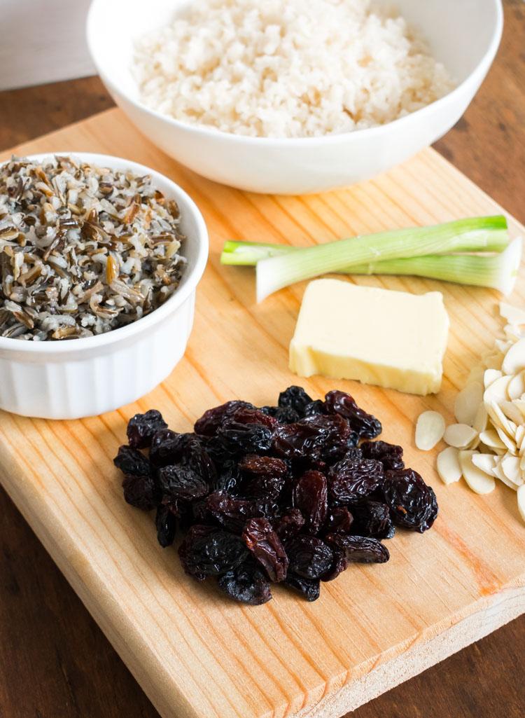 Recetas de arroz aromático con pasitas y almendras