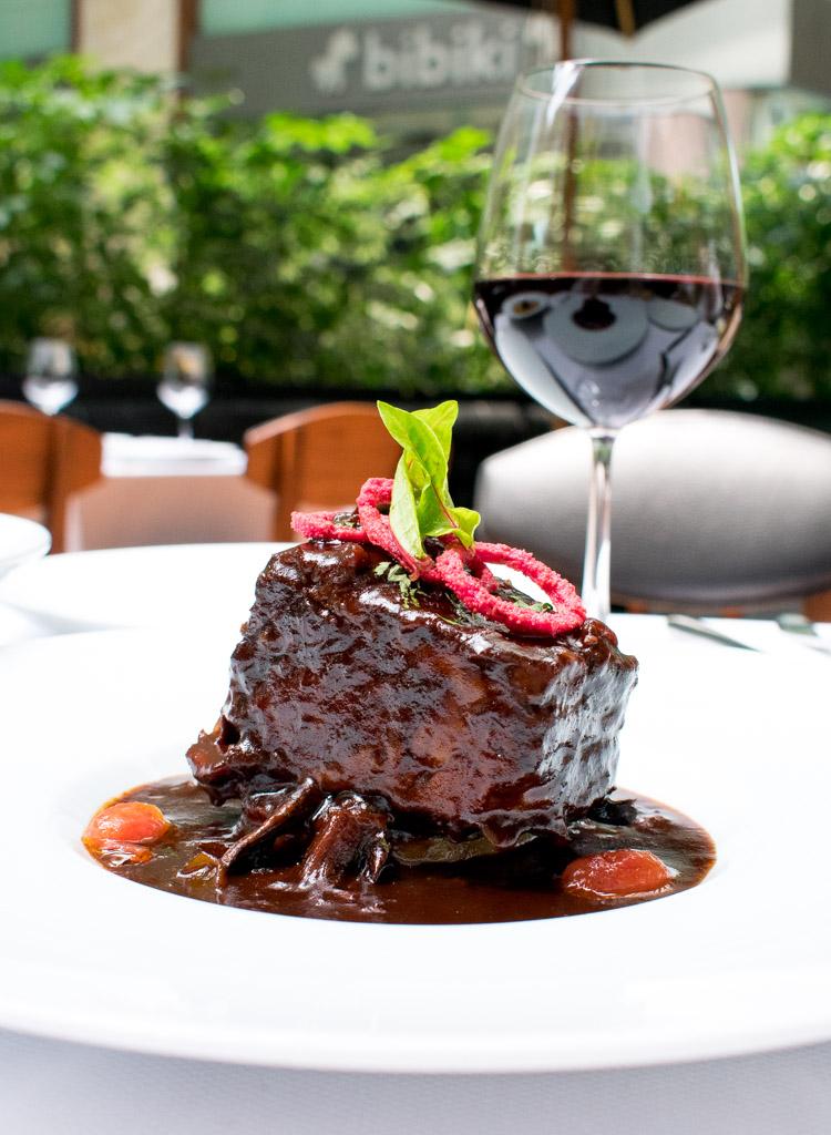 Restaurante Blanco Bistro Arcos Bosques, short rib en su jugo