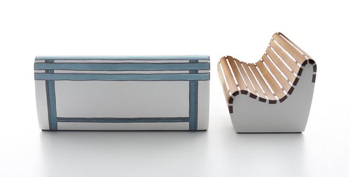 Un sof para el exterior perfumado y con forma de banco for Sofa exterior con almacenaje