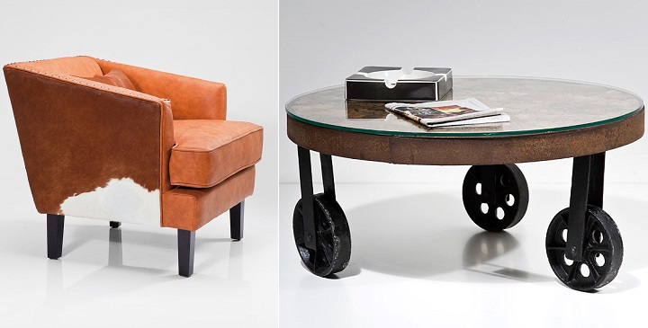 Muebles de madera tallada y piel natural de vaca – Revista Muebles