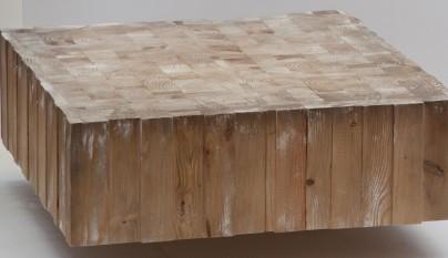 mesas hechas con troncos de madera revista muebles