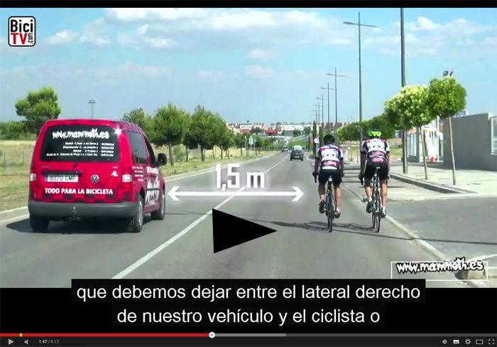 Ciculacion ciclistas en la via publica