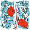 Bus 71_Jean-Marc Bustamante, Printtemps, 2011, ink on plexiglas, steel frame, 150 x 150 cm