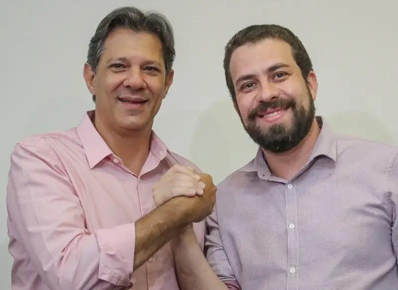 esquerda - fernando haddad - guilherme boulos - pt - psol