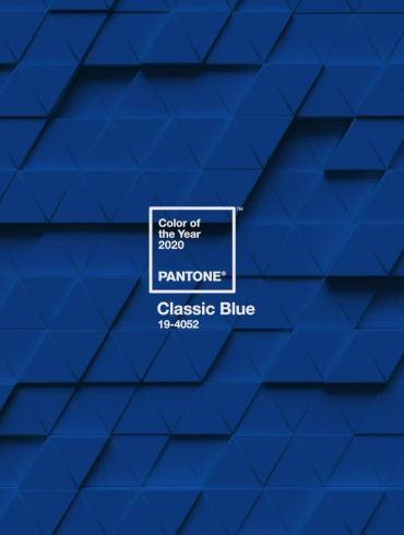 Cor Pantone 2020 Classic Blue - Símbolo da Nova Era