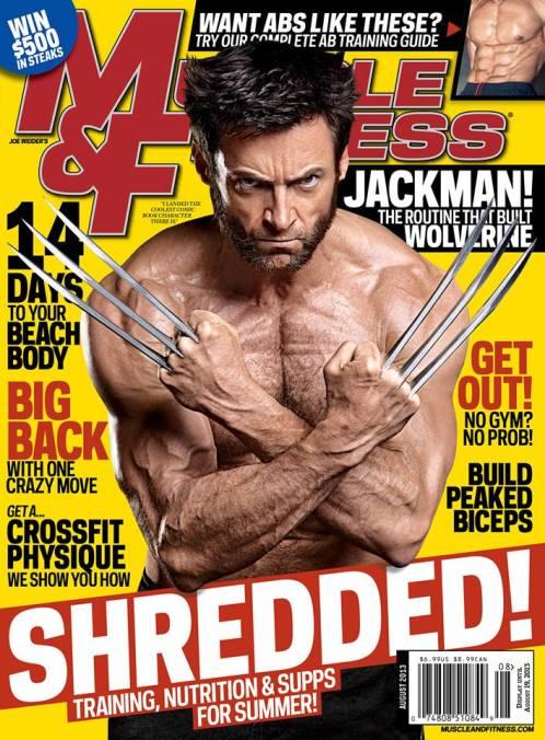 Tapa de Muscla & Fitnessn con Wolverine - August-2013