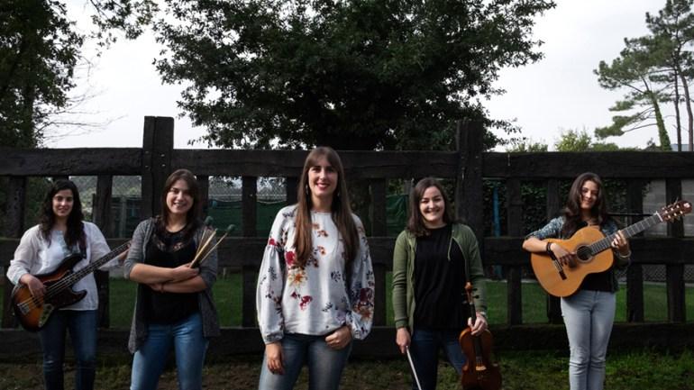 Andrea, Marcela. Xiana, Estela e Inés forman A Banda da Loba. Foto: Iván Barreiro