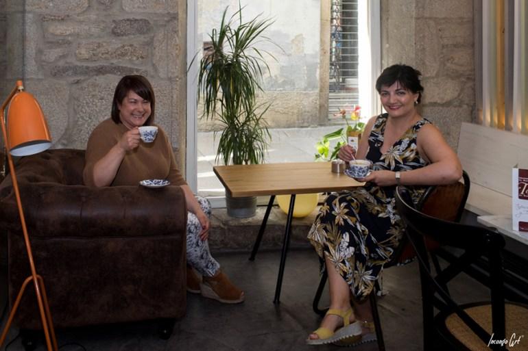 Rita e Carmen no Blu Café.