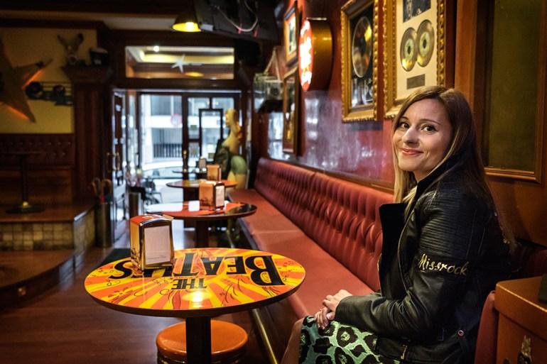 Marissa, no Rock Café Santiago. Foto: Iván Barreiro