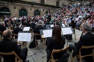 A Banda Municipal de Música de Santiago.