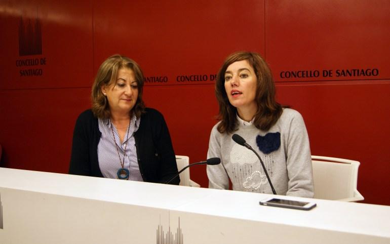 Sara Santos e Marta Lois. Foto: Concello de Santiago