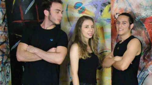 Kleber Reis, Isabela Stamponi e Zack Moreno