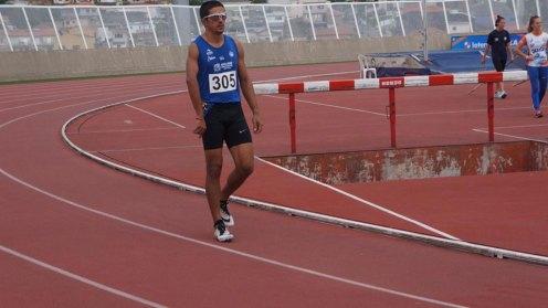 Edson Pinheiro no dia 6 de abril - Quando fez a marca de 11,31 seg. Divulgação