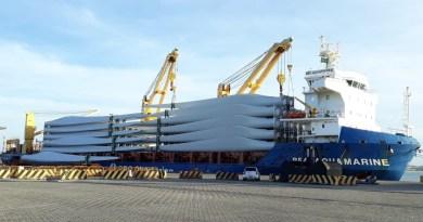 DHL coordena embarque de pás eólicas
