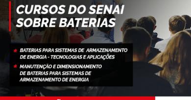 SENAI oferece cursos sobre baterias