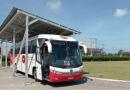 Ônibus elétrico movido a energia solar